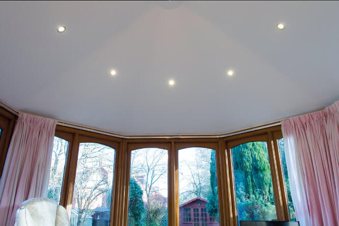 LED Spot Lights in conservatory