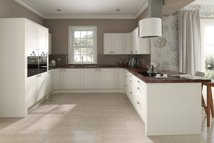 white wood kitchen Cramlington
